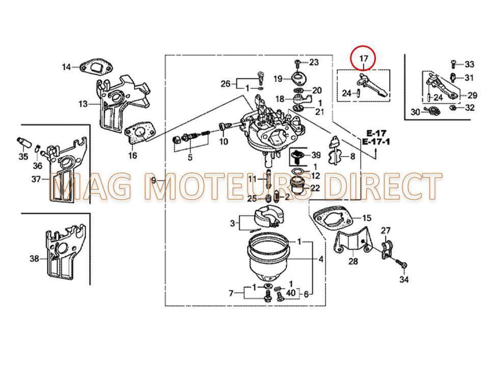 levier starter carburateur pour honda gx. Black Bedroom Furniture Sets. Home Design Ideas