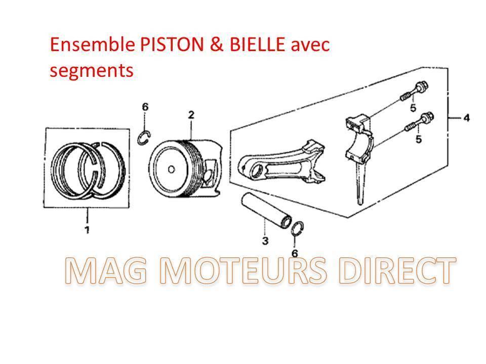 piston  bielle  u0026 segments g420 et autres marques