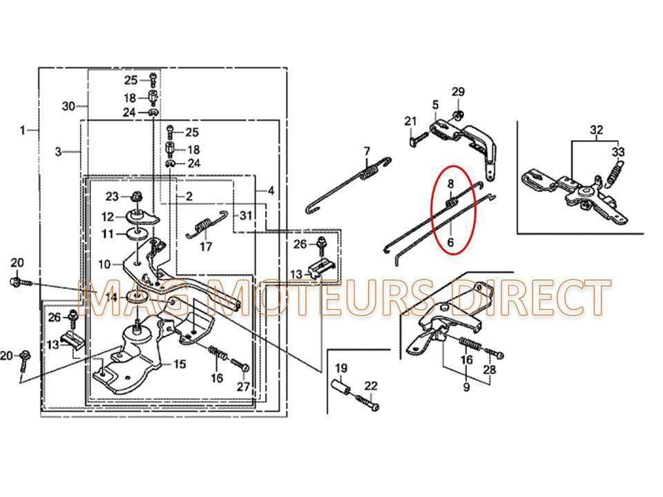Ressort Rappel Tige on Honda Gx160 Parts Manual