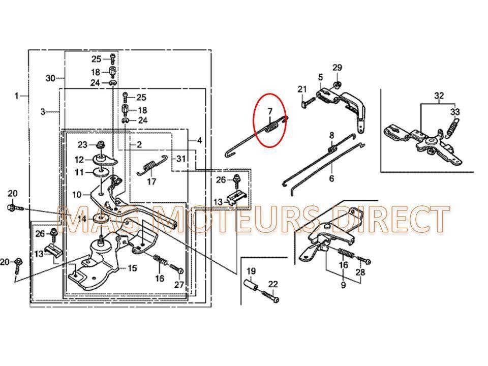 ressort de regulateur pour honda gx160 gx200