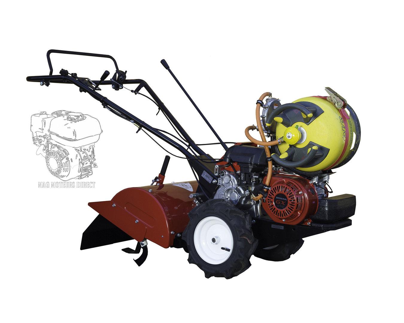 motoculteur - honda fr 750