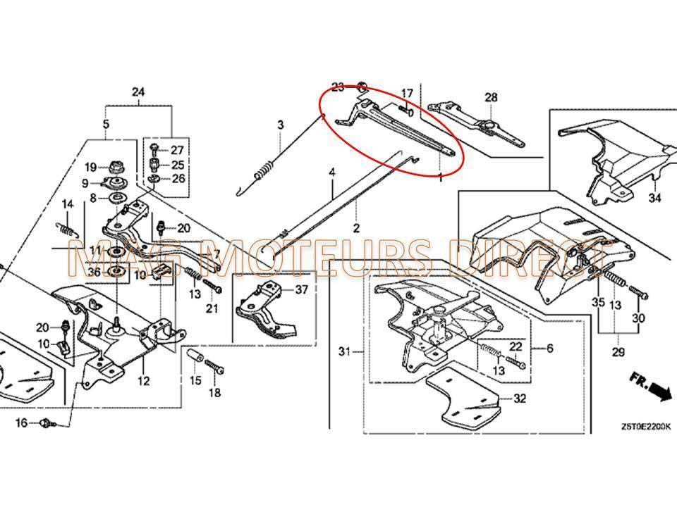 bras de regulateur pour honda gx340  390 eco