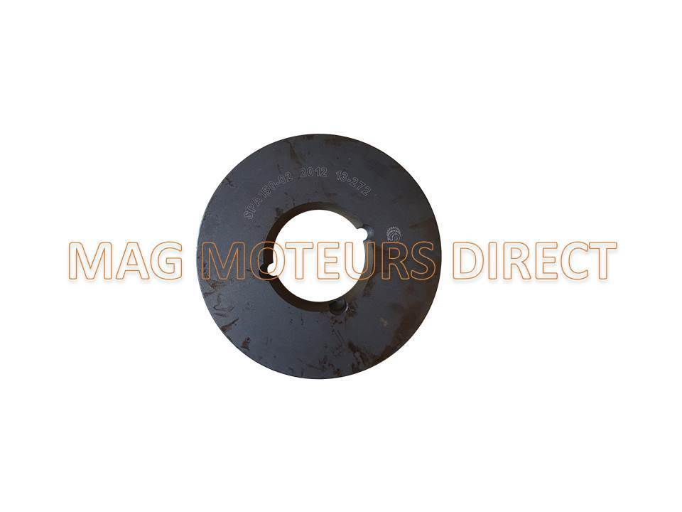 Type SPA Simple Gorge MOYEU AMOVIBLE 22mm POULIE FONTE 63mm x 22mm