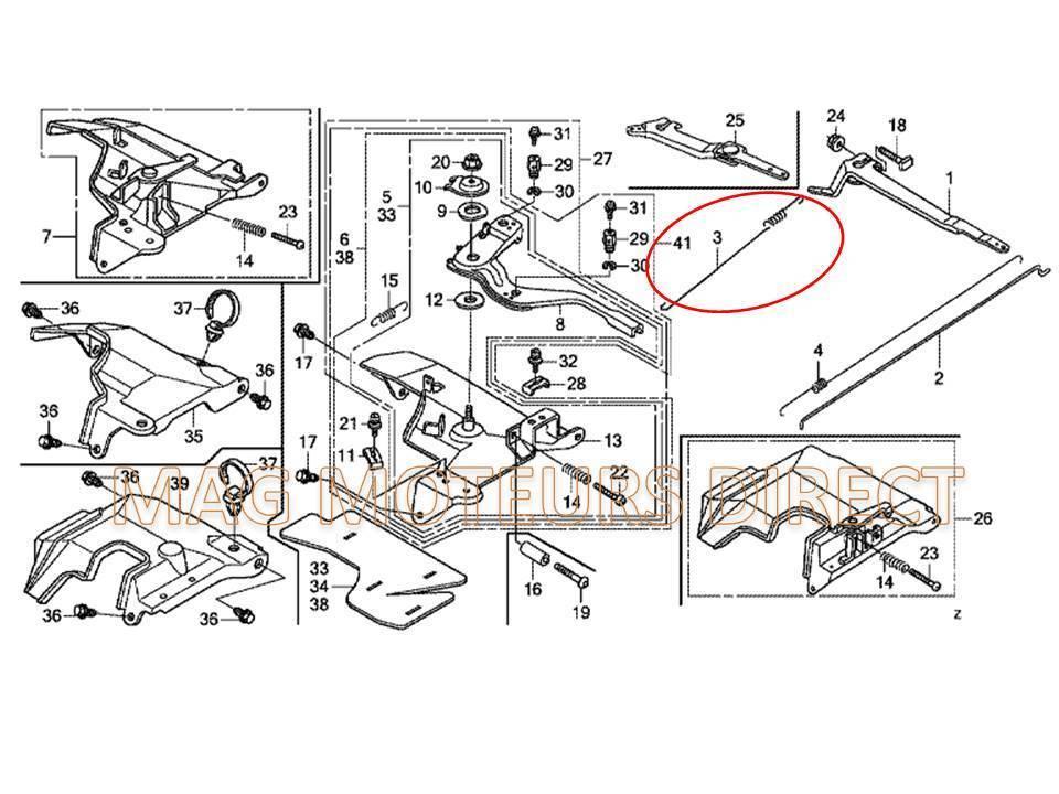ressort de regulateur honda gx240 gx270. Black Bedroom Furniture Sets. Home Design Ideas