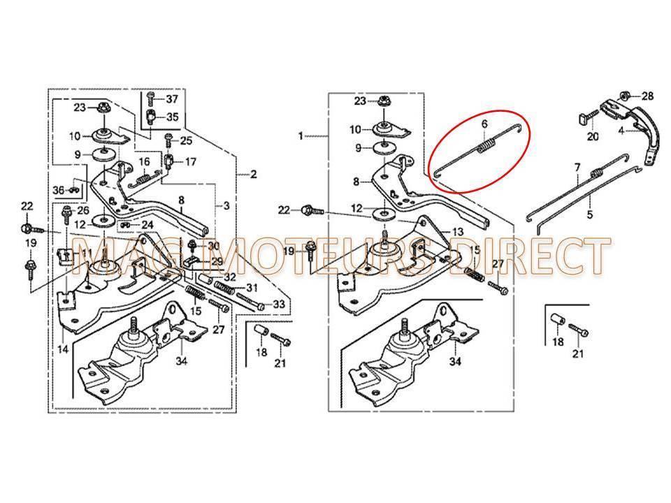 ressort de regulateur honda gx110 gx120. Black Bedroom Furniture Sets. Home Design Ideas